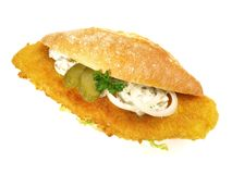 Fried Fish Bun royalty free stock image