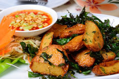 Fried Fish Cake (Tod Mun Pla) Stock Image