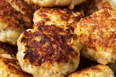 Fried fish cakes. Freshly fried fish cakes close up shot Royalty Free Stock Photos