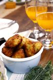 Fried Fish cakes in a bowl Royalty Free Stock Images