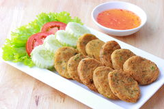 Fried Fish Cakes Stock Photography