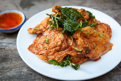 Fried fish cakes (Tod Man Pla), Thai food. Royalty Free Stock Images