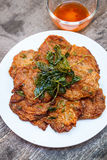 Fried fish cakes (Tod Man Pla), Thai food. Royalty Free Stock Photography