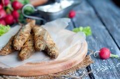 Fried fish capelin Stock Image
