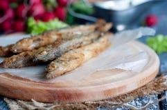 Fried fish capelin Royalty Free Stock Photography