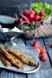 Fried fish capelin Stock Photography