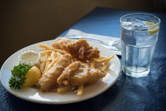 Fried Fish and Chips Dinner Royalty Free Stock Photo