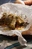 Fried fish closeup Stock Image