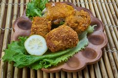 Fried Fish créole image stock