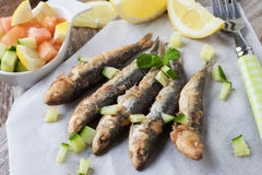 Fried fish Stock Photography