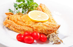 Fried fish detail Stock Photo