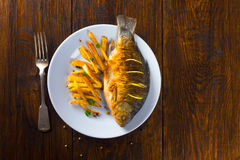 Fried fish for dinner Stock Photography