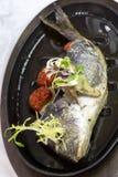 Fried fish dorado Stock Photo