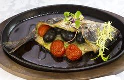 Fried fish dorado Stock Image