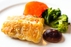 Fried fish filet Stock Photos