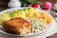 Fried fish fillet of cod. Stock Image