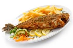 Fried fish fillet Stock Image