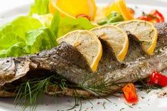 Fried fish fillet Stock Photos
