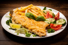 Fried fish fillet Royalty Free Stock Photos