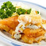 Fried fish fillet Royalty Free Stock Image