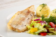 Fried fish fillet Stock Images