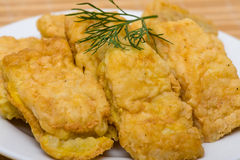Fried fish fillet Royalty Free Stock Images