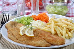 Fried fish fillets Royalty Free Stock Photo
