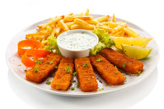 Fried fish fingers Stock Images