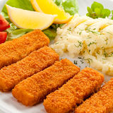 Fried fish fingers Royalty Free Stock Image