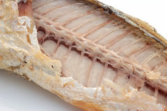 Fried fish and fishbone Thailand mackerel Stock Photo