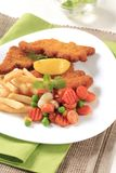 Fried fish and French fries Stock Image