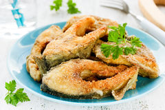 Fried fish with golden crust Royalty Free Stock Photo