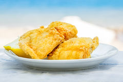 Fried fish. Greece Royalty Free Stock Image
