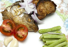 Fried Fish Head Stock Images