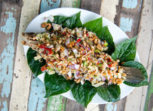Fried fish with herbs Royalty Free Stock Photography