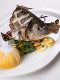 Fried fish with lemon Royalty Free Stock Photo