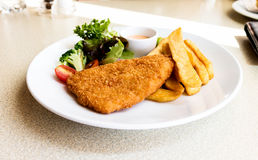 Fried fish for lunch Royalty Free Stock Images