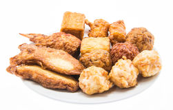 Fried fish meatballs Royalty Free Stock Photography