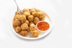 Fried fish meatballs Stock Photos