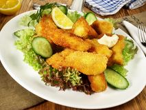 Fried Fish Nuggets royalty free stock image