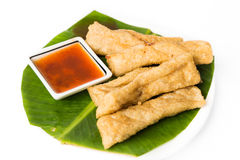 Fried fish nuggets or popularly known as keropok lekor Royalty Free Stock Photography
