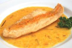 Fried Fish-Orangensoße Lizenzfreies Stockbild
