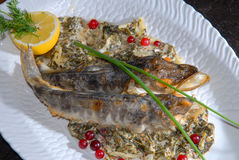 Fried fish with paste royalty free stock images