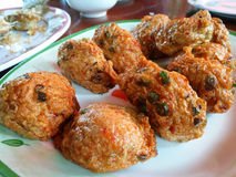 Fried fish-paste balls Royalty Free Stock Images