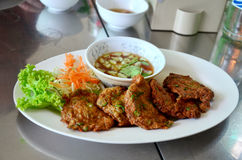 Fried fish patty or Curried fish cake Royalty Free Stock Photography