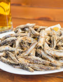 Fried fish sprat close-up Stock Photo
