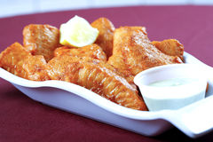 Fried fish in plate Stock Photography