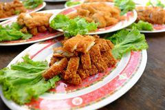 Fried fish. On plate Stock Image