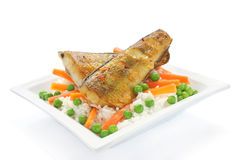 Fried fish with rice Royalty Free Stock Images