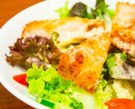 Fried fish salad 2 Stock Image